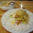 『夢民』 ベーコン・エッグ・野菜